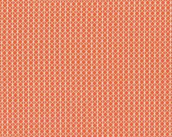 Cotton and Steel Basics Orange Geometric Fabric by the yard, Orange fabric, Designer Fabric 1 yard