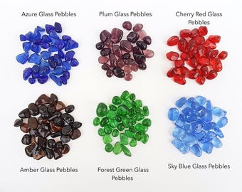 Flash Sale!! 6 Colors Glass Pebbles for Terrarium 100g Premium Arts Crafts Wedding Vase Fillers Terrarium Aquarium Decor