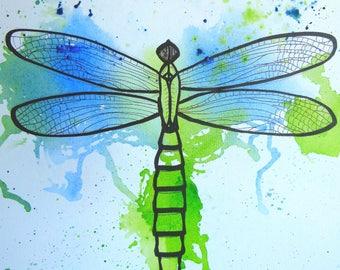 Dragonfly, art print, print, print
