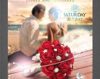 PRINT Wedding Flyer, Custom Flyer, High Quality Flyer, Professional Flyer Design, Unlimited Revisions, Includes Web design
