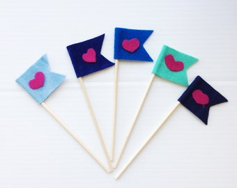 Plant/cupcake flags