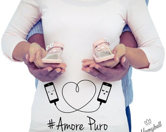 "Maternity t shirt ""pure love"""
