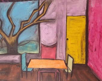 The tree in the dining room original painting