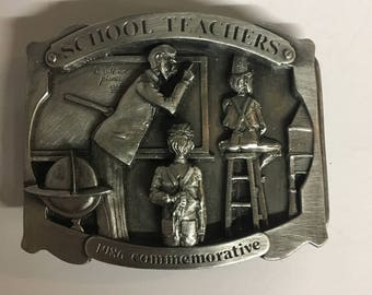 1986 Commemorative School Teachers Belt Buckle