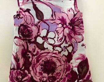 Girls Flower Dress Vintage Inspired