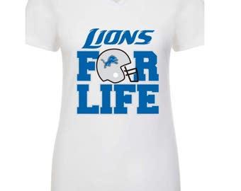 Detroit Lions vneck/tee/tank
