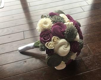 3 Color Custom Sola Wood Flower Bouquet