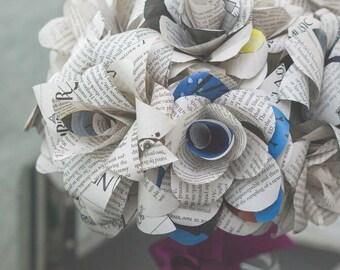 Custom paper flower bouquet