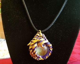 Glass Swirl Necklace