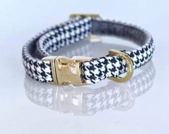 The Sailor -Dog Collar, Houndstooth Pattern