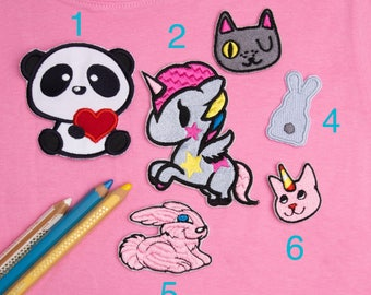 Animal patch Patches for kids Gift patch Cute patches For kids Patches for girls Children patch Iron on kid patch Children patch set ED9408