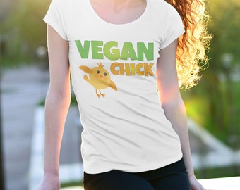 VEGAN CHICK | Vegan shirt, Vegan Clothing, Vegan Gifts, Vegan tshirt, vegan top, vegan clothes, vegan tee, Cruelty Free t shirt, veganism
