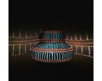 Hand-Made Squash Gourd Lamp - UFO