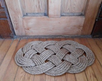 Traditionally Crafted Sailor Mat- Ocean Plait in 1/2-inch Rope