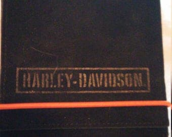 Reduced - New Harley Davidson Black Suede Wallet- Billfold-Purse -Trifold
