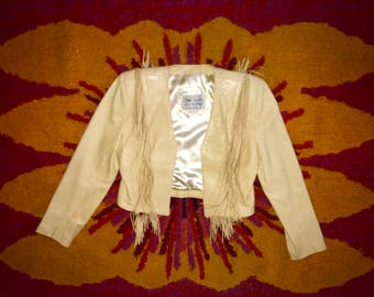 60's Rising Sun Fringe Leather Jacket
