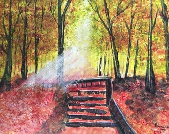 A Walk Way In The Autumn Forest