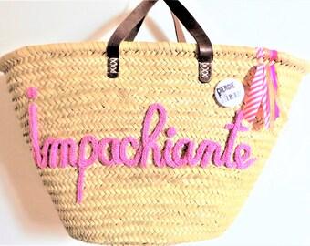 Basket, bag, personalized knitted bag. 100% handmade!