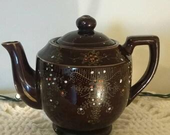 Vintage Hand-Painted Teapot