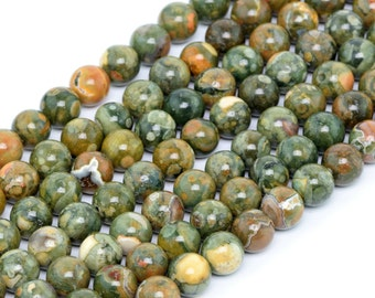 "6MM Rainforest Rhyolite Natural Gemstone Round Shape Full Strand Loose Beads 15.5"" (100156-261)"