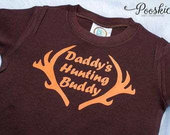 Daddy's Little Hunter Boy Shirt, Toddler Boy Shirt, Deer Shirt, Antler Shirt, Little Hunter Shirt, Hunting Shirt for Boys, Antler Shirts P7