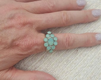 Stunning crystal ring in two colours Mauve or light blue