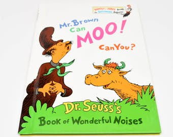 DR. SEUSS Mr. Brown Can Moo! Can You! Book ~ Dr. Seuss Books ~ Dr. Seuss ~ Dr. Seuss Children's Books ~ Dr. Seuss Beginner Books ~ Books