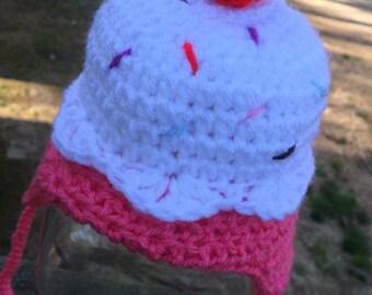 Baby crochet cupcake hat