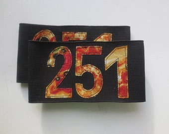 Roller Derby Armbands - Numbered Armbands - Pizza