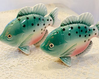 Sun Fish Salt and Pepper Shakers Made in Japan