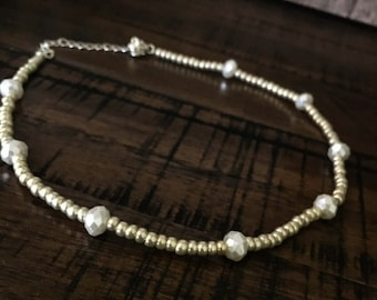 pearl and gold choker