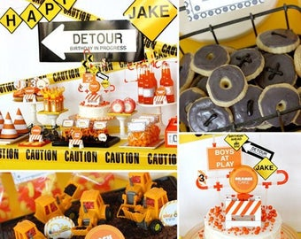 Construction Site First 1st Birthday - Can You Dig this Fully Customized and Delivered To Your Door