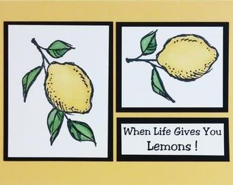 Stampin Up Card, Humorous Card, Funny Card, Greeting Card, Yellow Lemons