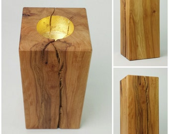 Candle holder beech massive, large, linseed oil
