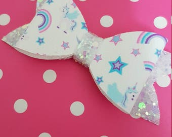 "3"" single unicorn bow"