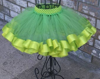 Tinker Bell Inspired, Easter Tutu, Ribbon Trim Tutu