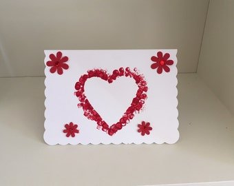 Home made blank occasion card love heart