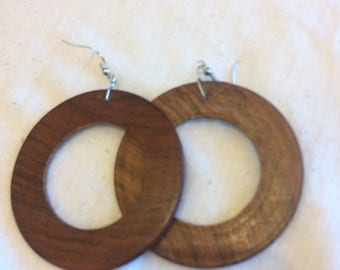 Wooden African earrings