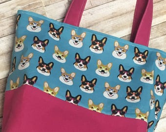 Corgi Market Bag - Cotton-Canvas