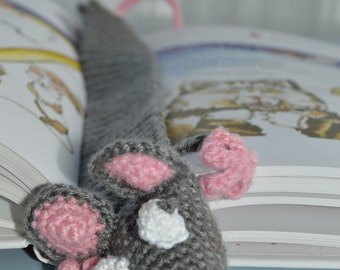 Crochet Bookmark - Funny Rat