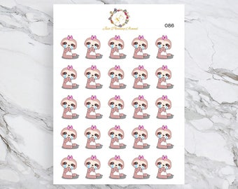 Crying, Lexie the Sloth Stickers, Crying Planner Stickers, Planner Stickers