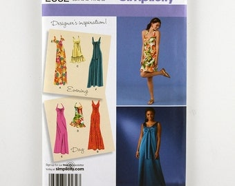 Simplicity Pattern 2582 Misses' Dress, Three Lengths, Bodice Variations, Sizes 14-22 Uncut Designer's Inspiration Pattern