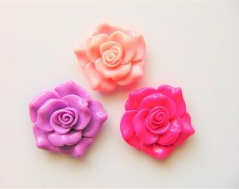 JUMBO girly flower cabochons