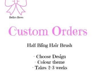 Bling Hair Brush (Made to order)