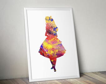 Alice in Wonderland, Quote, Mad Hatter, It's no use going back to yesterday, because I was a different person then, Poster, Print, Movie