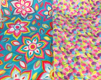 Fabric Scraps, Fabric Remnant, Spring Themed Fabric, Colorful Fabric, Fabric, Cotton Fabric
