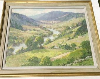 Leo Blake Oil Painting Summer Massachusetts Valley Landscape