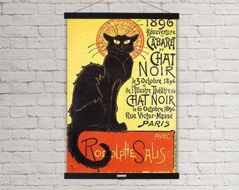 Chat Noir 1896 Paris French Vintage Poster Hanging Canvas