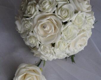 Foam Rose Wedding Bouquet