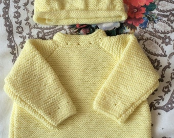 Baby Jumper And Hat Set